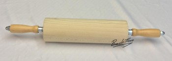 Rouleau à pâtisserie en bois ondulé avec poignées en bois 300 mm