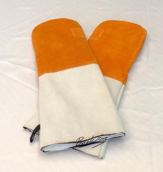 Gants de cuisson en cuir 2 paires (4 pièces)